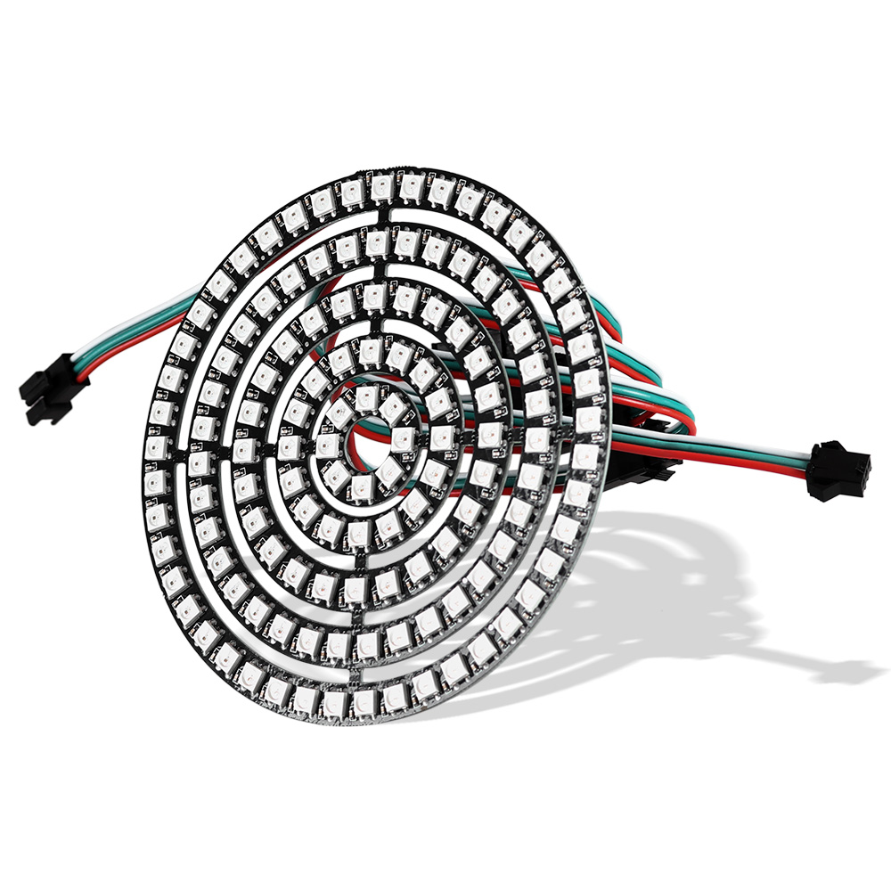 addressable ws2812b pixel ring 1 8 16 24 35 45 leds ws2812 5050 rgb led ring ws2812 ic built in