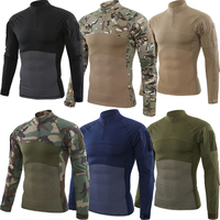 SQING Military Tactical Uniform Combat Camouflage Plus Size Army Clothes Men Training Militar Wear US Army Work Clothes Men Tops