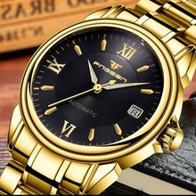 FNGEEN Full Automatic Watch Men Gold Mechanical Wat