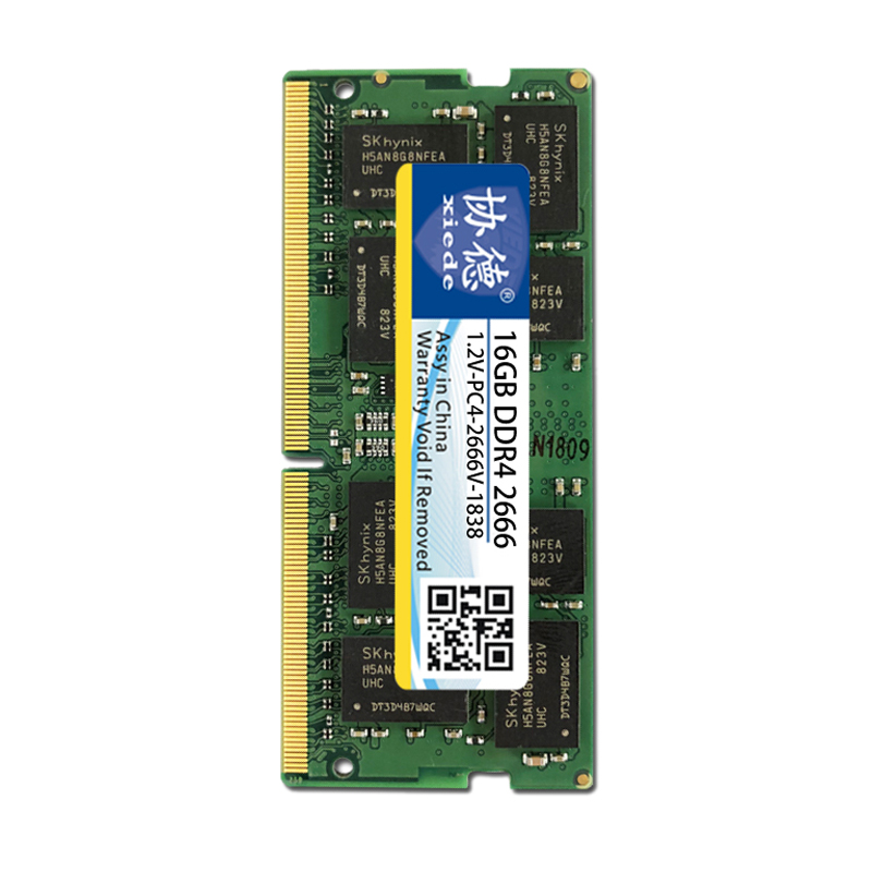 Xiede Laptop Memory Ram Module Ddr4 2666 Pc4-2666V 288Pin Dimm 2666Mhz  Notebook Memory