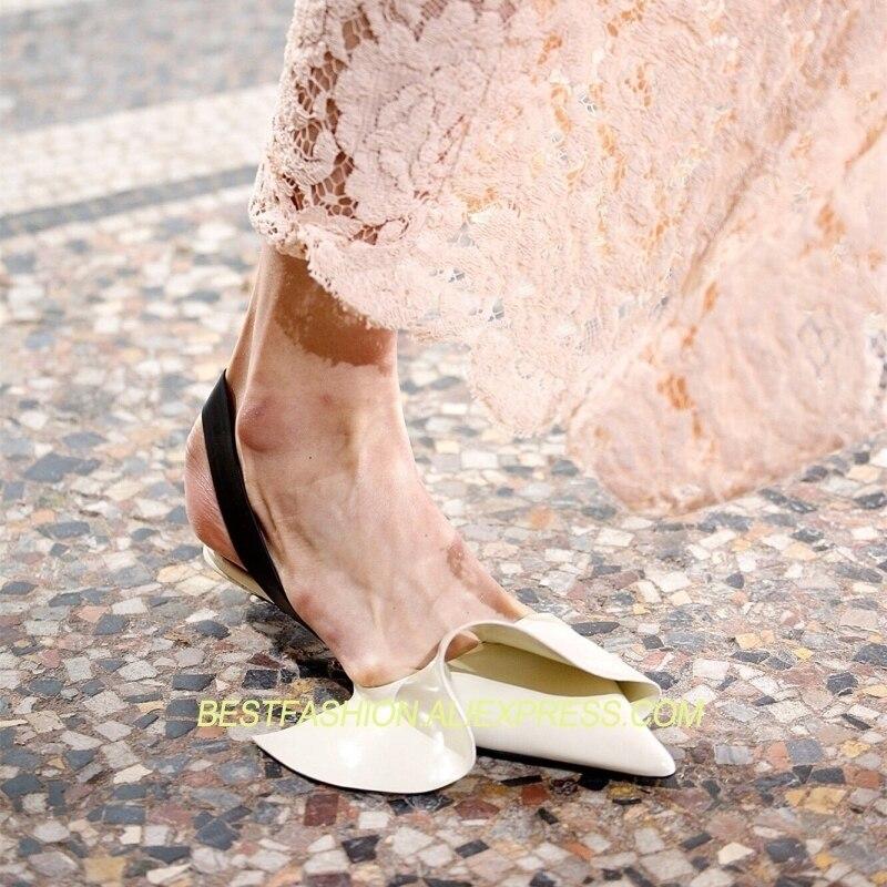 Zapatos Primavera Verano De Casuales Pic as Dedo Mujer Pista Pisos Pie Del Puntiagudo Diseñador Caliente As Cuero Pic Marea Y Volantes txwwB
