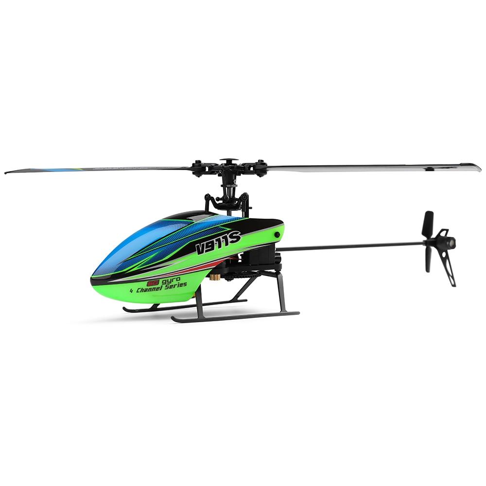 WLtoys V911S RC drone de helicópteros RC 2,4G 4CH 6-Aixs Gyro Flybarless RC Drones con Hover medio de RTF