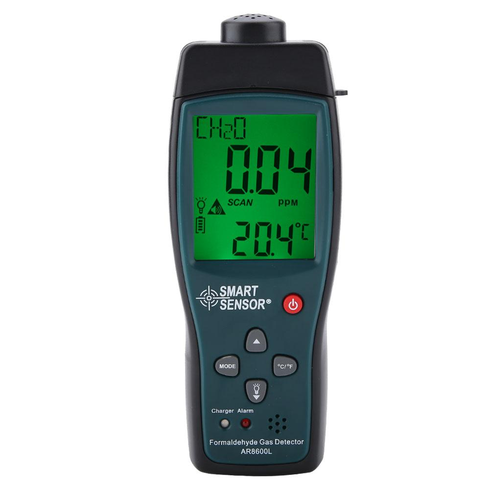 Capteur intelligent AR8600L formaldéhyde moniteur détecteur portable LCD CH2O gaz moniteur US Plug|Analyseurs de gaz| |  -