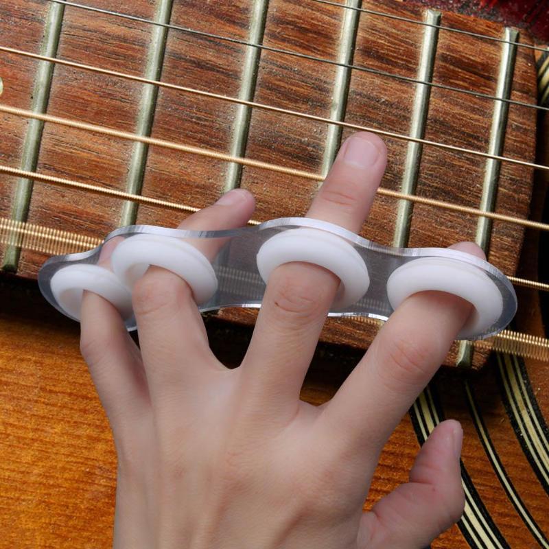 Acoustic Guitar Finger Expansion Sleeve Finger Force Span Exerciser Accessories Finger Force Ukulele Piano Span Practice