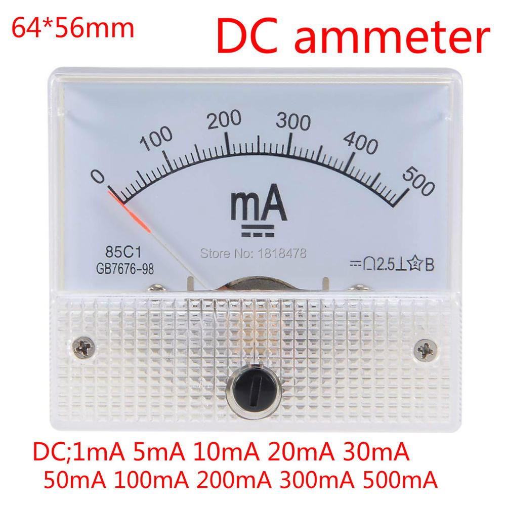85C1 Analog current panel meter DC 300mA Ammeter for circuit test Ammeter Tester Gauge 1 PCS
