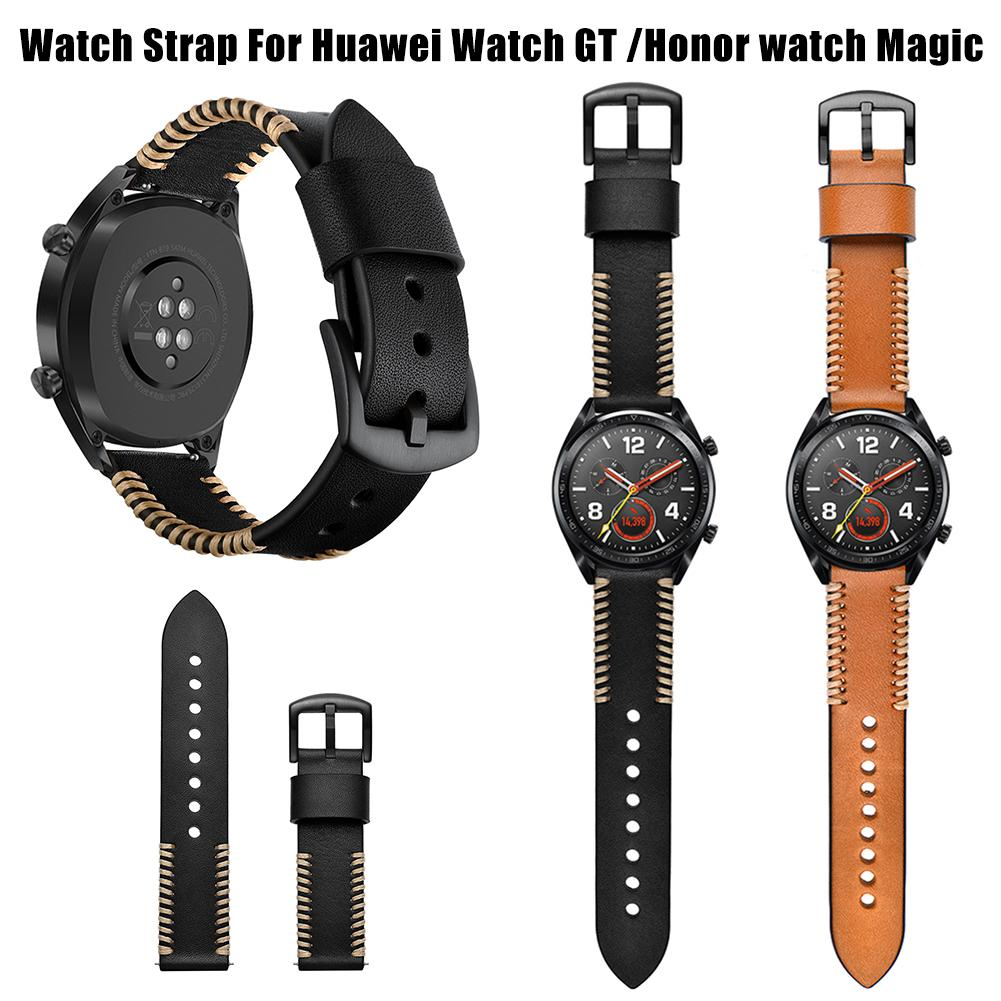 22MM Smart Replacement Wristband Genuine Soft Comfortable Adjustable Sports Watch With Leather Watch Strap Ribs Type New-in Smart Accessories from Consumer Electronics