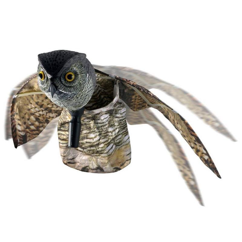 Jagd Köder Griff Eule Mit Wings Geformte Garten Dekoration Langlebig Winddicht Und Regen Vogel Abweisend Flügel