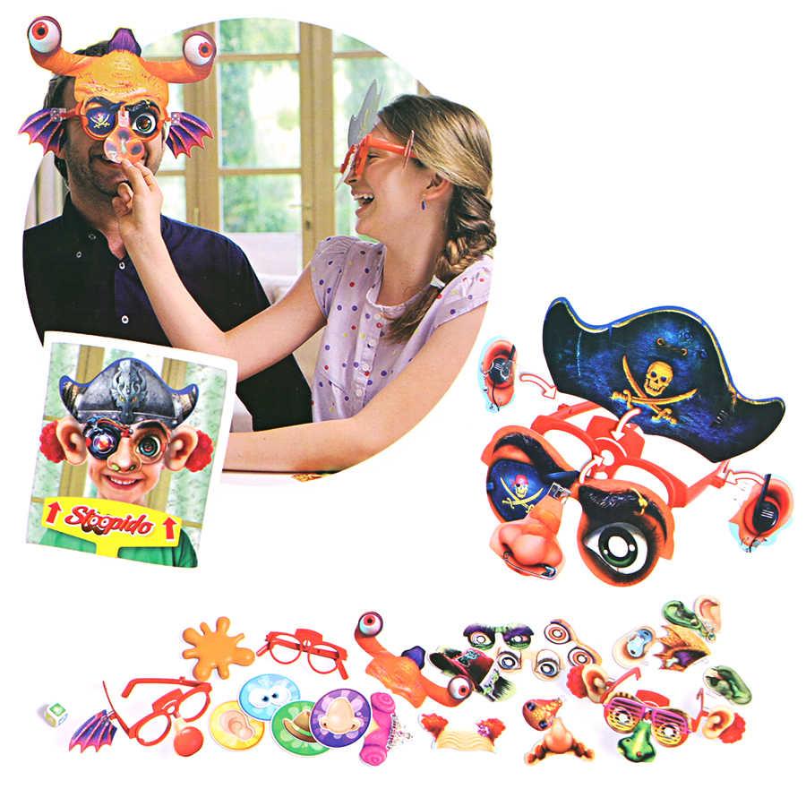 Stoopido Wajah Topeng Permainan Gratis Assembly 1000 Wajah Konyol Permainan Papan Keluarga Pesta Mainan Lucu Untuk Anak Anak Puzzle Toy Set