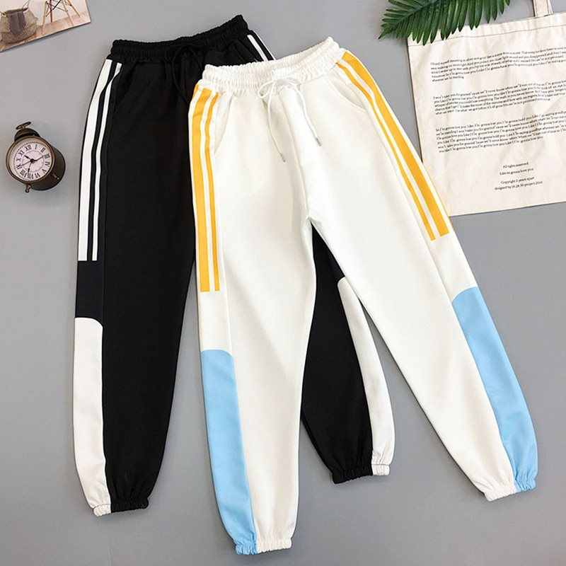 BF Style Black Trousers Women New Summer Splice Pockets Thin Streetwear Cool Girl Fashion Harajuku Hip Hop Pants