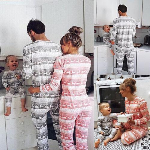 Navidad Familia Juego Conjunto De Pijamas De Los Hombres De Las