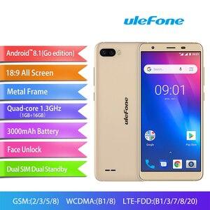 Image 2 - هاتف Ulefone S1 Pro محمول يعمل بنظام الأندرويد 8.1 5.5 بوصة 18:9 MTK6739 رباعي النواة 1GB RAM 16GB ROM 13MP + 5MP كاميرا خلفية مزدوجة 4G هاتف ذكي