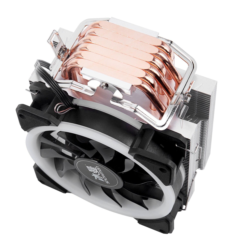 Image 5 - Кулер для процессора с изображением снеговика 4PIN, 6 тепловых  труб, один RGB светодиодный вентилятор охлаждения 12 см, вентилятор  LGA775 1151 115x1366, Поддержка Intel AMDКулеры/вентиляторы/системы  охлаждения