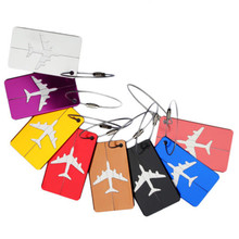 HOT Luggage Tag Aluminum Alloy Air Plane Travel Suitcase Name Address ID Label(China)