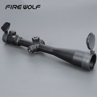 FIRW WOLF 10 40x50 Long Range Riflescope Side Wheel Parallax Optic Sight Rifle Scope Hunting Scopes Sniper Luneta Para Rifle