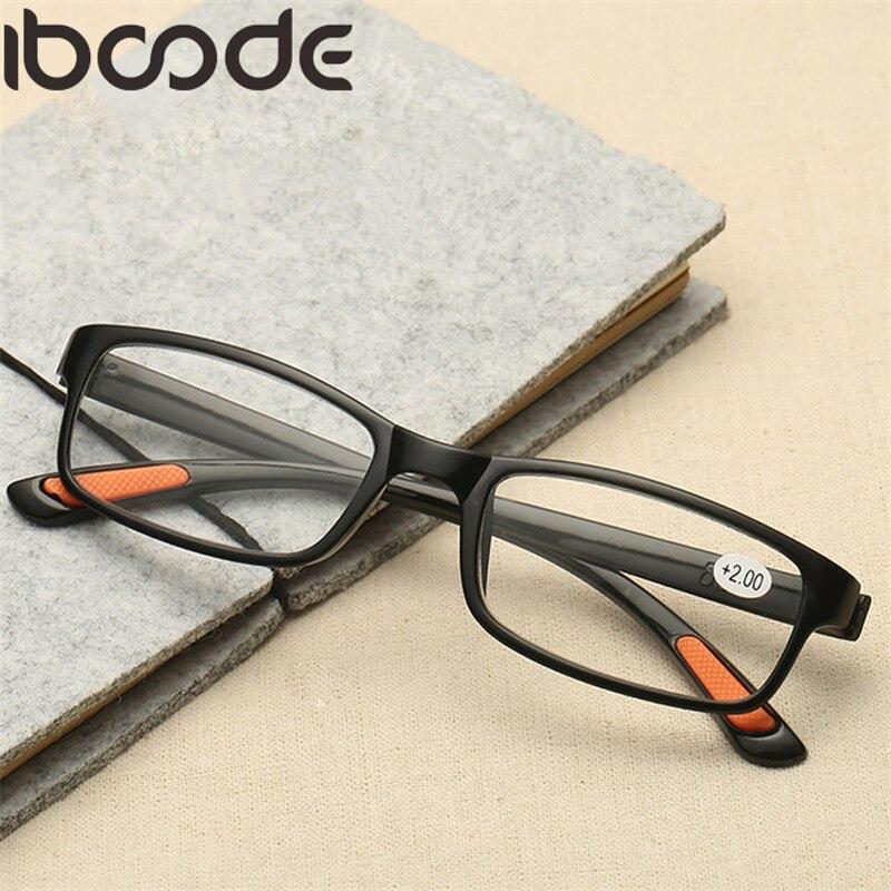 Men's Glasses Responsible Iboode Blue Film Anti Blue Ray Glasses Ultra Light Toughness Reading Glass Unisex Tr90 Flexible Frame Presbyopic Lectura Glasses Men's Reading Glasses