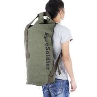 b5525680b ... para escalada Camping viaje senderismo. FREE SOLDIER 42L Canvas  Tactical Backpack Barrel Bag Barrel Shape Outdoor Bags For Climbing Camping  Traveling