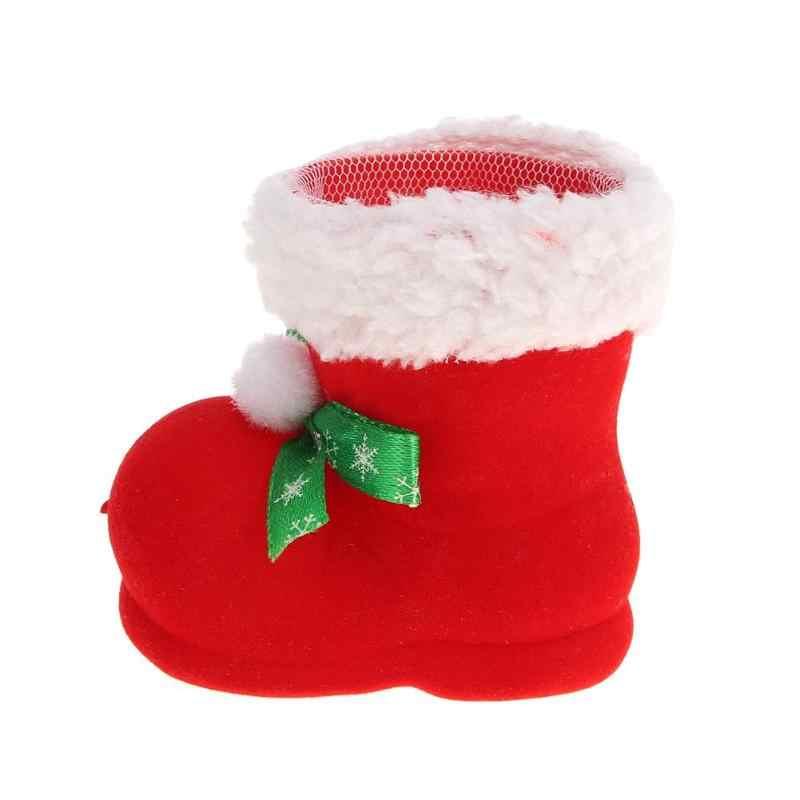 Kerst Kousen Hanger Doek Leuke Candy Houder Tas Boot Kerst Thuis Nieuwjaar Xmas Kous Baby Jongen meisje Gift