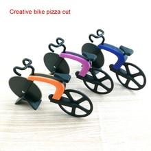 Bicycle Pizza Cutter Wheel Stainless Steel Plastic Bike Roller Chopper Slicer Kitchen Gadget WXV Sale