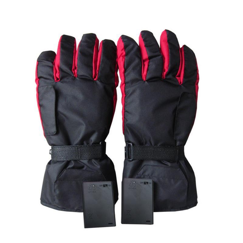 Carbon Fiber 1 Pair Waterproof Heated Gloves Battery -1783