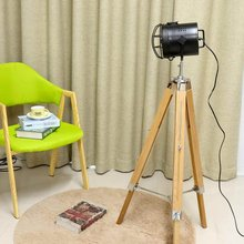 Standing Lights Floor Lamp for Living room Decor Reading Lighting Wooden Tripod Triangle Modern Minimalist Industrial Luminaire(China)