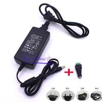 Adaptador de fuente de alimentación de 12V 5A 5 amp 60W DC EU/US UK AU, tira de luz LED transformador