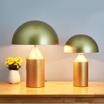Post-modern Gold Mushroom Table Lamp Lights Led Iron Desk Lamps Living Room Bedroom Bedside Study Lighting Luminaire Luminaria