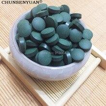 Качество экспорта 0,25 г/таблетки Органические Спирулина богатый витамин Анти-усталость анти-излучения натуральный для похудения сырья