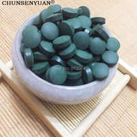Calidad de exportación 0,25g/píldora orgánica espirulina rica vitamina antifatiga Anti-radiación natural para adelgazar en bruto material