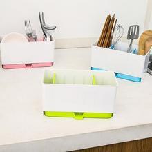 Utensils Holder Rack Candy Sponge Basket Wash Dry Shelf Cutlery Drainer Sink Tidy Organizer Kitchen Tools Storage Organizer