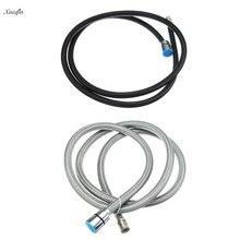 Xueqin 1,5 м нейлоновый гибкий черный/серый водопровод водяной шланг для кухни выдвижной смеситель кран душевой шланг для ванной Spary Head