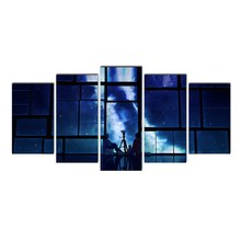 Cairnsi HD Canvas Nordic Style 5 Piece Minimalist Wall Art Beautiful Meteor shower Canvas Painting Landscape Picture Home Decor
