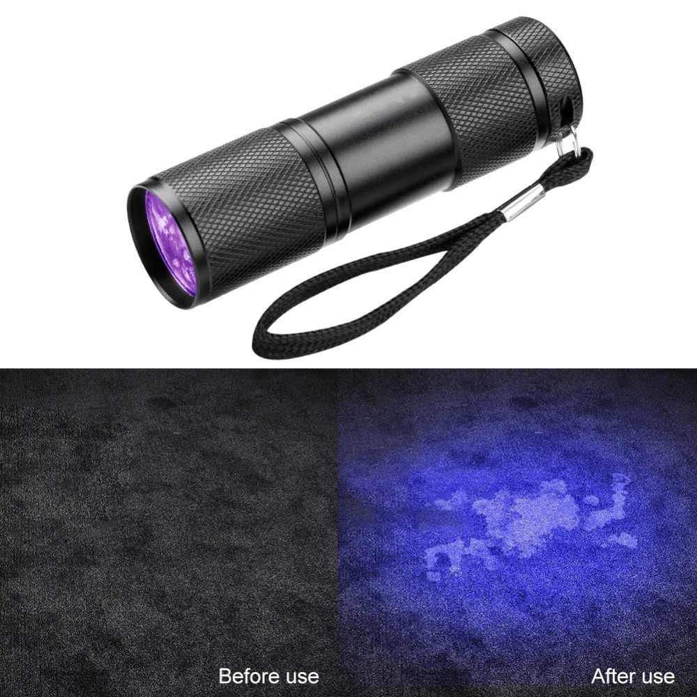 Light Invisible Detection Flashlight Ultraviolet Torch Ultra Ink Lamp 9led Uv Marker Violet ZOPTkiuX