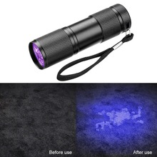 Ultraviolet Flashlight UV Flashlight Torch Ultra Violet Flashlight Invisible Ink Marker Detection Light 9led UV Lamp цена
