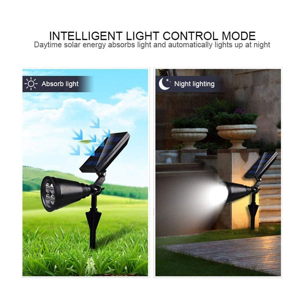 Image 5 - New upgrade Solar Garden Spotlight Ground Landscape Lights Adjustable Waterproof Outdoor Security Light Auto On/Off spotlight-in Solar Lamps from Lights & Lighting