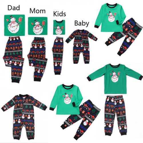 mejor servicio venta caliente barato estilo de moda € 7.21 11% de DESCUENTO|Pijamas de Navidad para niños adultos familia  parejas que combinan ropa 2018 madre hija Padre hijo Navidad familia  pijamas ...