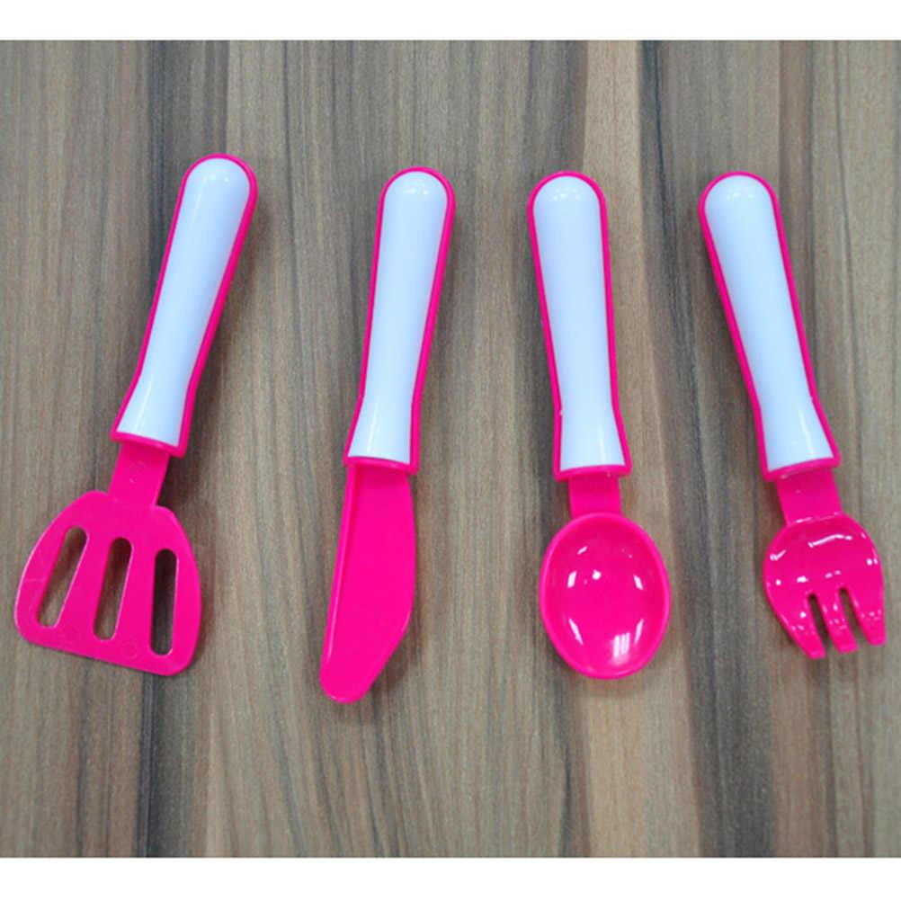 33 Pcs Creative MINI เด็กจานและชุดเครื่องครัวจานและ Flatware ชุดครัวทำอาหารชุดของเล่นทำอาหารของเล่นสำหรับเด็ก