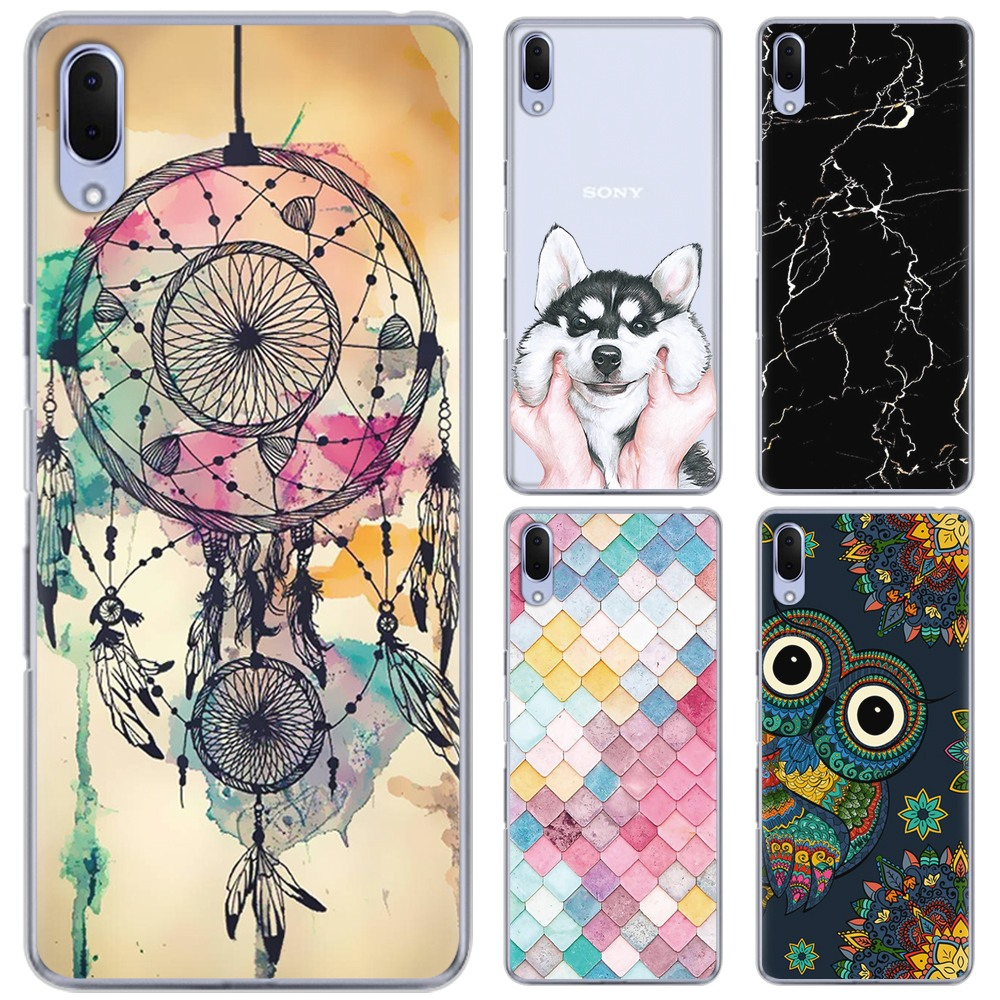 Soft Phone <font><b>Case</b></font> For <font><b>Sony</b></font> <font><b>Xperia</b></font> <font><b>L3</b></font> 5.7 inch Colorful Painted Fashion Design TPU Silicone Cover image