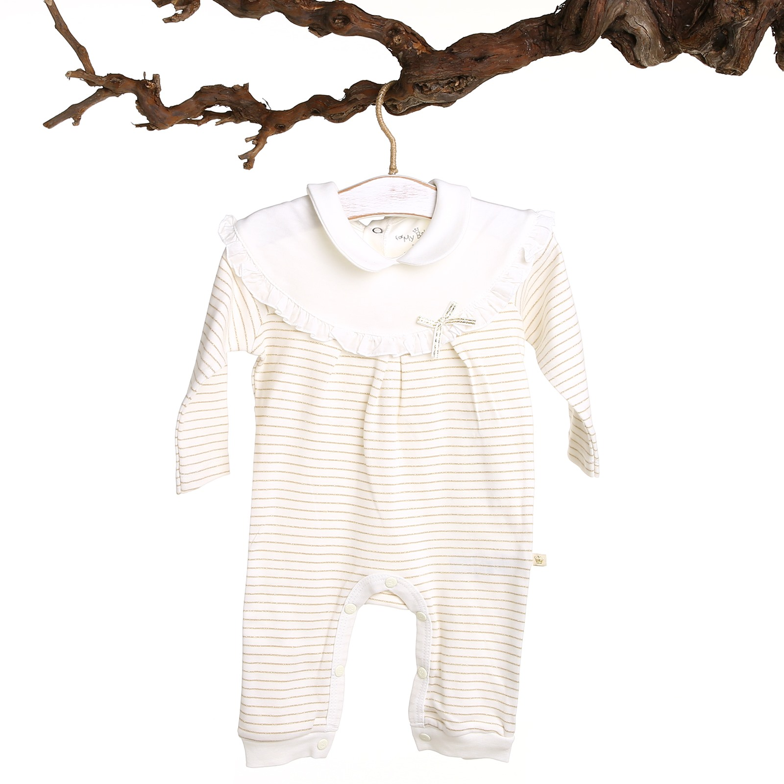 Ebebek For My Baby Bodysuit With Pan CollaR Baby Ribbed Outfit Long Sleeve Romper