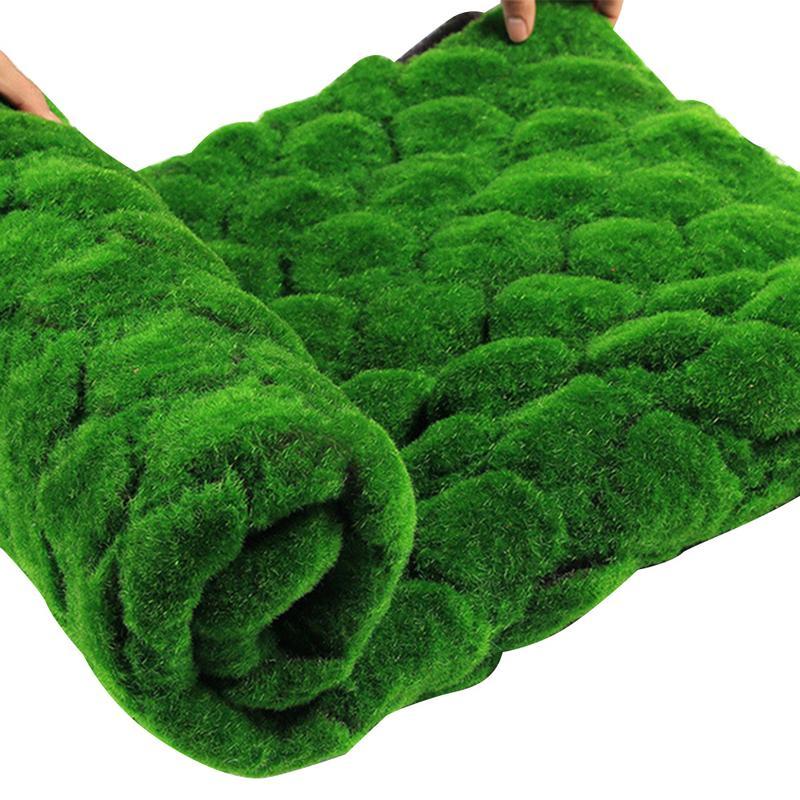 Christmas Moss Carpet.Us 12 92 33 Off 1m 1m Christmas Easter Straw Mat Green Artificial Lawn Carpet Fake Turf Home Garden Moss Home Floor Diy Wedding Decoration Grass In
