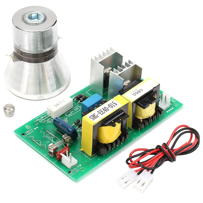 Ultrasonic Cleaning Transducer Cleaner 100w 28khz High Performance +Power Driver Board 220vac Ultrasonic Cleaner Parts