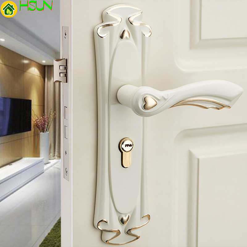 Ivory European Style Door Lock Indoor Room Door Lock Bedroom Wood Door Handle Mechanical Door LockIvory European Style Door Lock Indoor Room Door Lock Bedroom Wood Door Handle Mechanical Door Lock