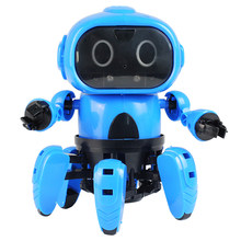 MoFun-963 DIY Assembled Electric Robot Infrared Obstacle Avoidance Gesture Induction Follower Educational Toy Xmas Gifts For Kid(China)