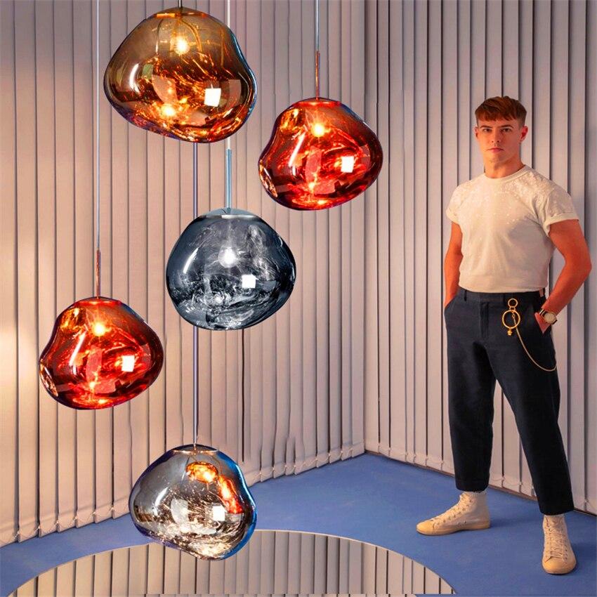 Modern Tom DIXON Lava LED Pendant Lamp Glass Ball Pendant Lights Lighting Art Bedroom Bar Living Room Kitchen Fixtures LuminariaModern Tom DIXON Lava LED Pendant Lamp Glass Ball Pendant Lights Lighting Art Bedroom Bar Living Room Kitchen Fixtures Luminaria