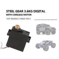 3.6KG Digital Waterproof Servo With Steel Gear for Traxxas TRX 4 E Maxx Summit Revo3.3 Slash E REVO RC Car Parts