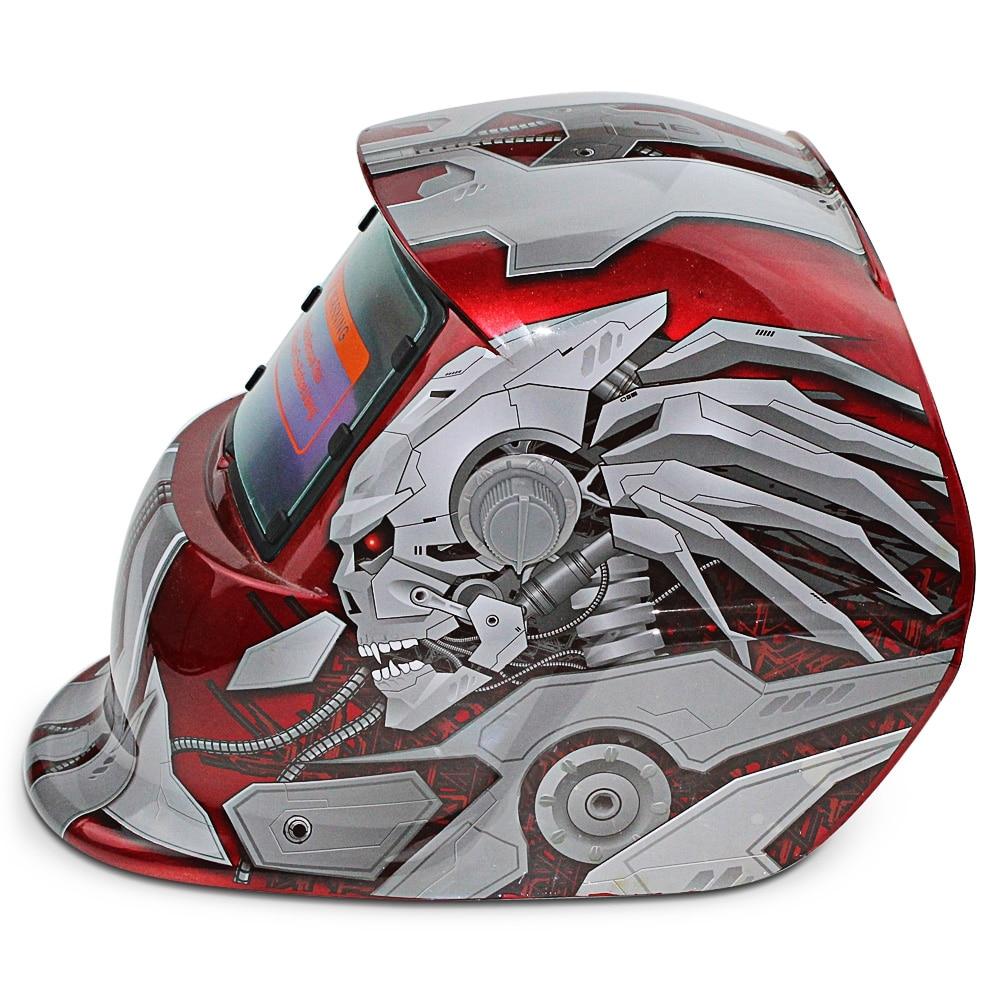 Helmet Welding Solar Energy Auto Changeable Light Electric Welding Protective Helmet With Hero Character Pattern Welder Mask