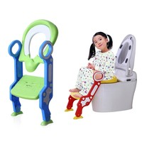 Baby Toilet Seat Kids Potty Training With Adjustable Ladder Infant Toilet Training Kids Folding Seat Step Stool Pot For Children