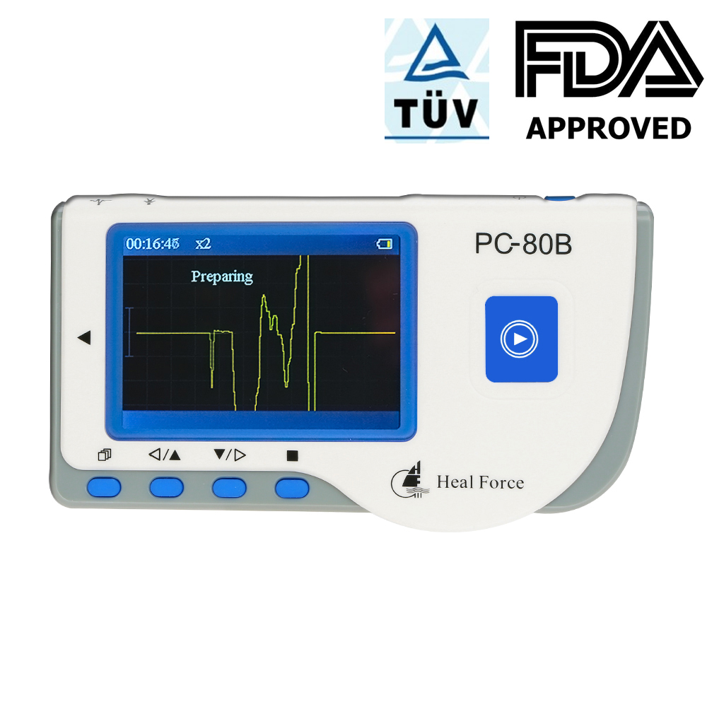 Heal Force PC 80B Easy ECG Monitors Monitoring Machine LCD Heart Health Monitor Handheld USB Continuous