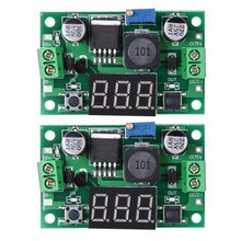 2x LM2596S DC-DC Buck Converter Adjustable Power Supply Step Down Module Green