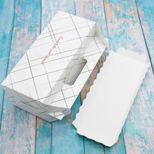 100 Pcs Paper Box With Handle Roll Cake Kraft Gift Packaging Wedding Birthday Party Cardborad Lines