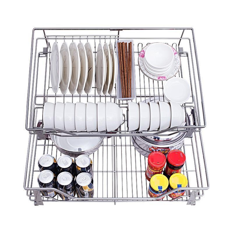 De Despensa Organizador And Storage Organizer Stainless Steel Rack Cozinha Cocina Kitchen Cabinet Cestas Para Organizar Basket in Racks Holders from Home Garden